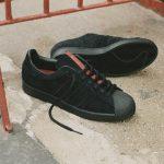 Photo des adidas x thrasher superstar black