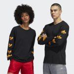 photo du tshirt adidas shmoo longsleeve black