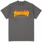 photo du tshirt thrasher flame logo charcoal