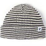 Photo du bonnet magenta striped beanie navy beige