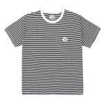 Photo du tshirt Magenta striped plant tee black white