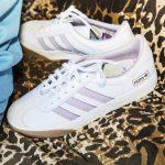 Photo des chaussures adidas gazelle x Nora white gum